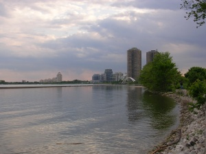 The lakeshore of Toronto