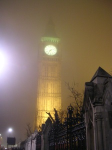 Big Ben in foggy London