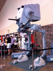 A model of an AT-AT from Star Wars. Photo by Louise Kiner.